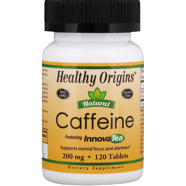 Healthy Origins, Cafeína natural, Contiene té innova, 200 mg , 120 tabletas (Discontinued Item)