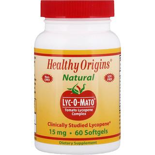 Healthy Origins, Lyc-O-Mato, Tomato Lycopene Complex, 15 mg, 60 Softgels