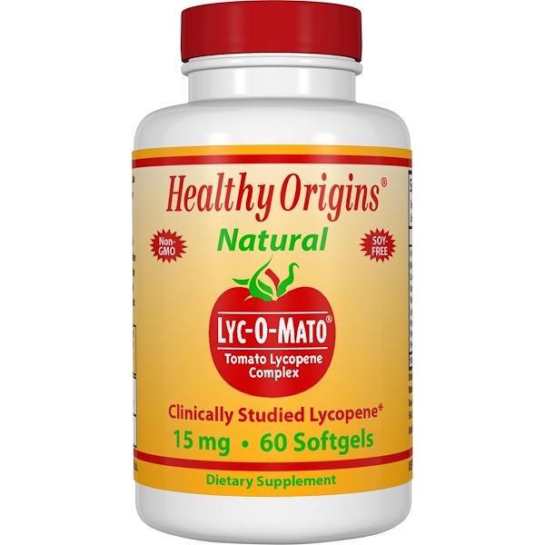 Healthy Origins, Lyc-O-Mato,番茄紅素複合物,15毫克,60粒軟膠囊