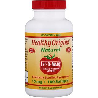 Healthy Origins, Lyc-O-Mato, complexe de lycopène de tomate, 15 mg, 180 capsules molles