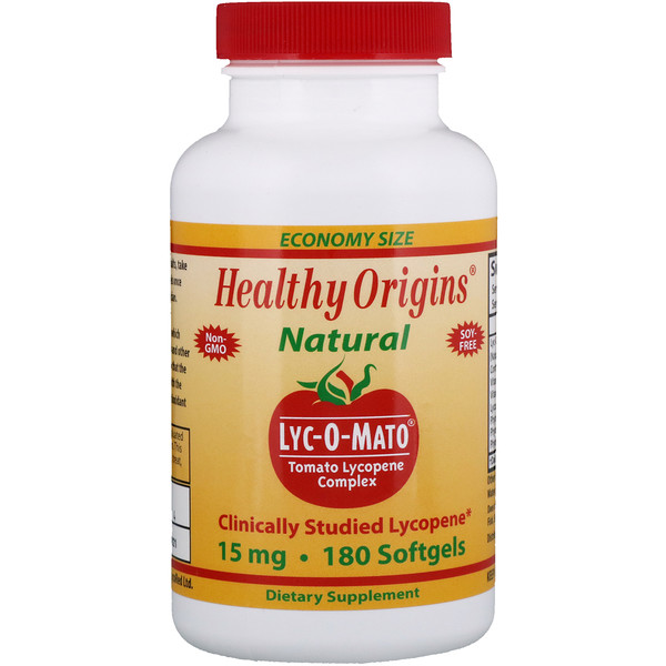 Healthy Origins, Lyc-O-Mato, Tomato Lycopene Complex, 15 mg, 180 Softgels (Discontinued Item)