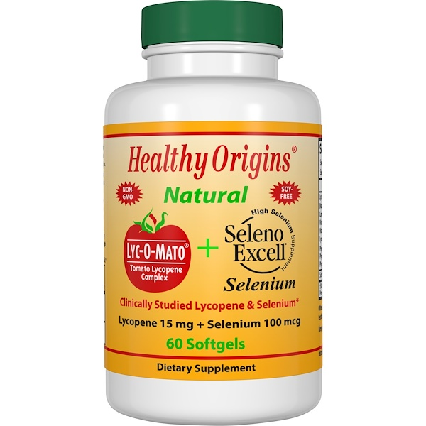 Healthy Origins, 番茄紅素+硒軟膠囊,60粒