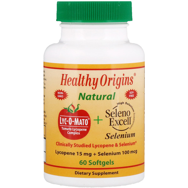 Healthy Origins, Lyc-O-Mato Lycopene + Seleno Excell, 60 Softgels (Discontinued Item)