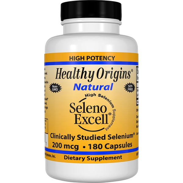 Healthy Origins, Seleno Excell, High Selenium Supplement, 200 mcg, 180 Capsules