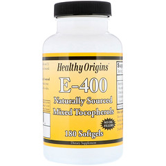 Healthy Origins, E-400、400 IU、180 ソフトジェル