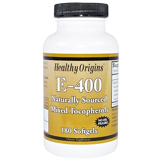 Healthy Origins, E-400, 400 IU, 180 Softgels