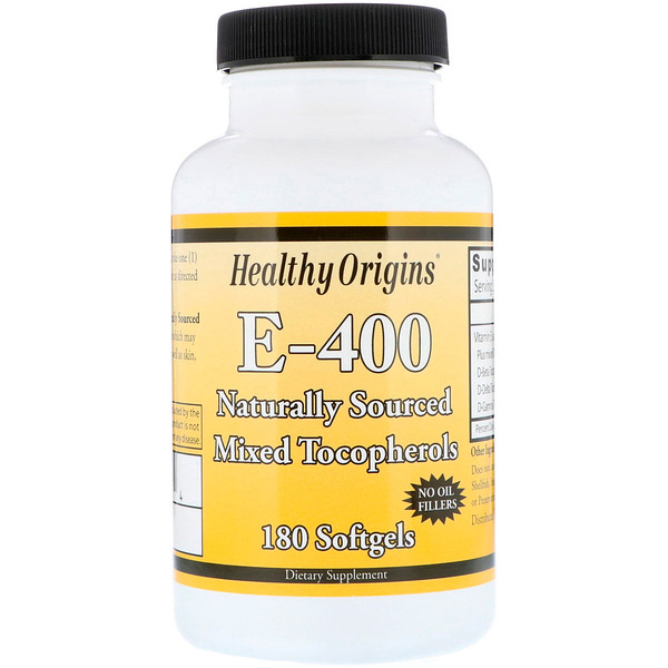 Healthy Origins, E-400, 180 Softgels (Discontinued Item)