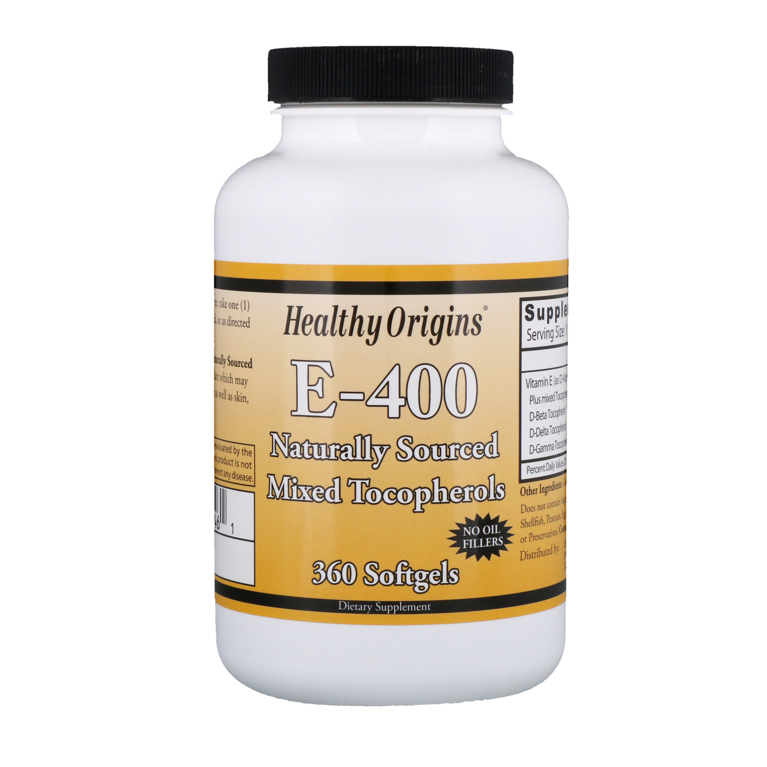 Healthy Origins, E- 400, 360 мягких таблеток