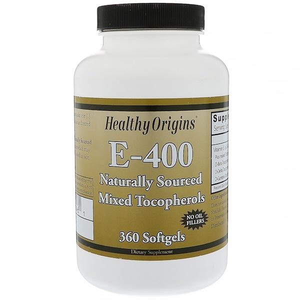 Healthy Origins, E- 400, 360 Softgels