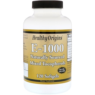 Healthy Origins, E-1000, 120 Softgels
