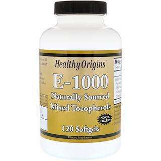 Healthy Origins, E-1000, 120 소프트 젤