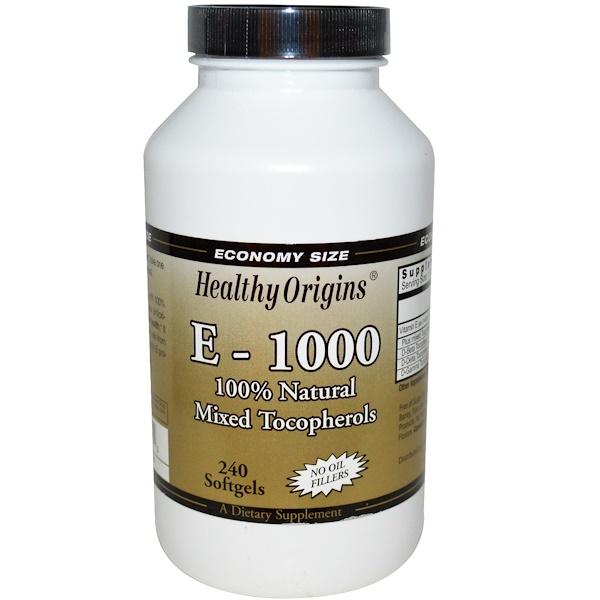 Healthy Origins, E-1000, 240 Softgels (Discontinued Item)