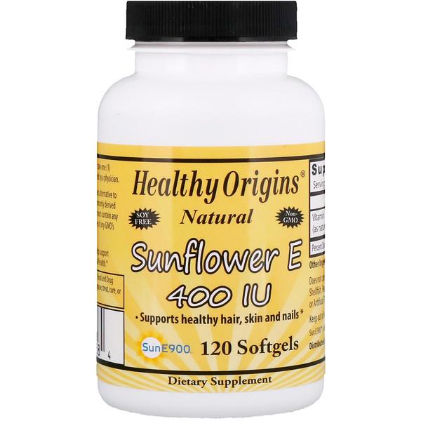 Healthy Origins, Sunflower E, 400 IU, 120 Softgels (Discontinued Item)