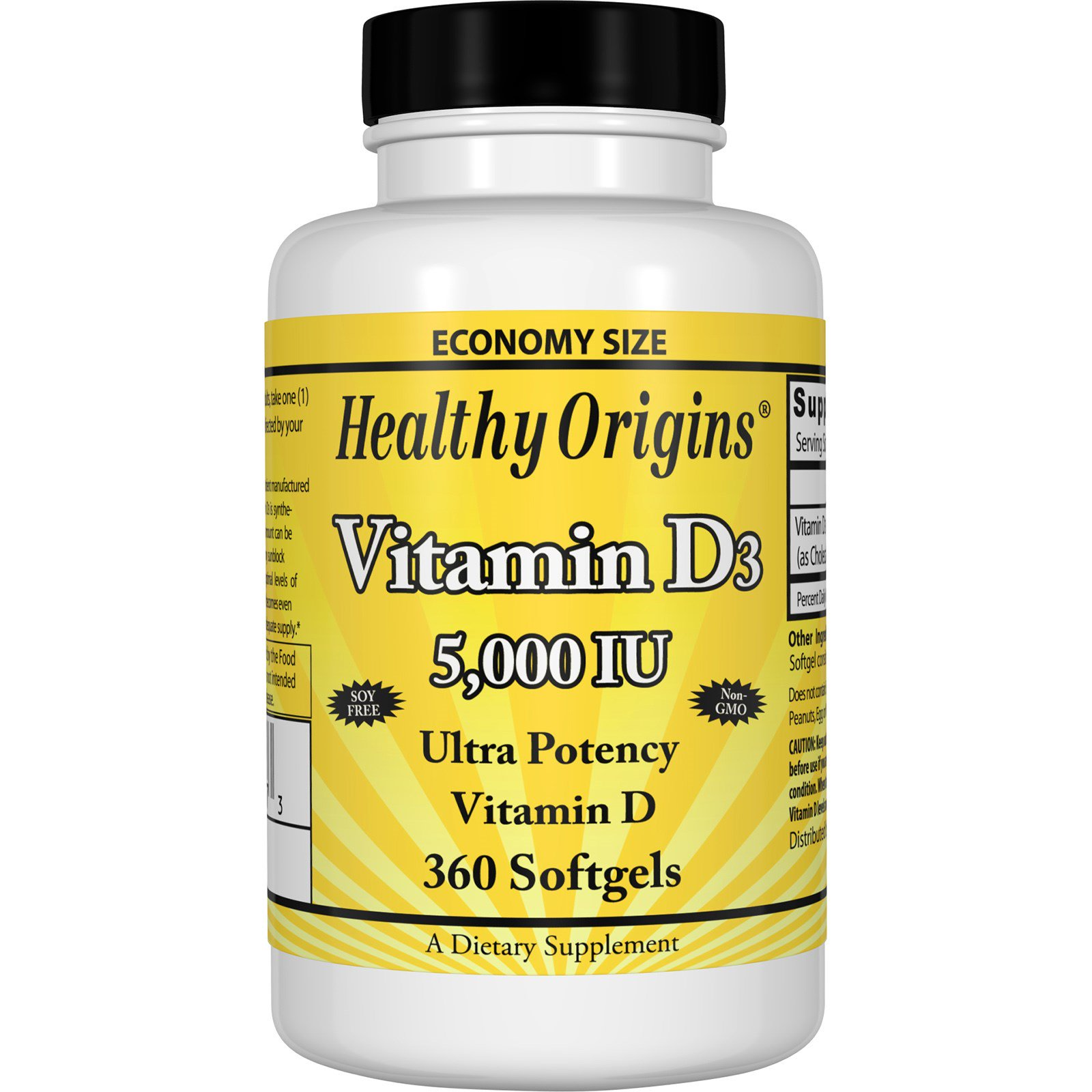 healthy origins vitamin d3 5 000 iu 360 softgels. Black Bedroom Furniture Sets. Home Design Ideas