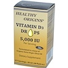 Healthy Origins, Vitamin D3 Drops, 5,000 IU, .68 fl oz, 377 Servings (Discontinued Item)