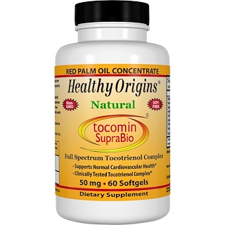 Healthy Origins, Tocomin SupraBio, 50 mg, 60 Softgels