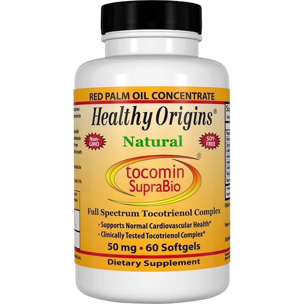 Healthy Origins, Tocomin SupraBio, 50 mg, 60 Softgels (Discontinued Item)