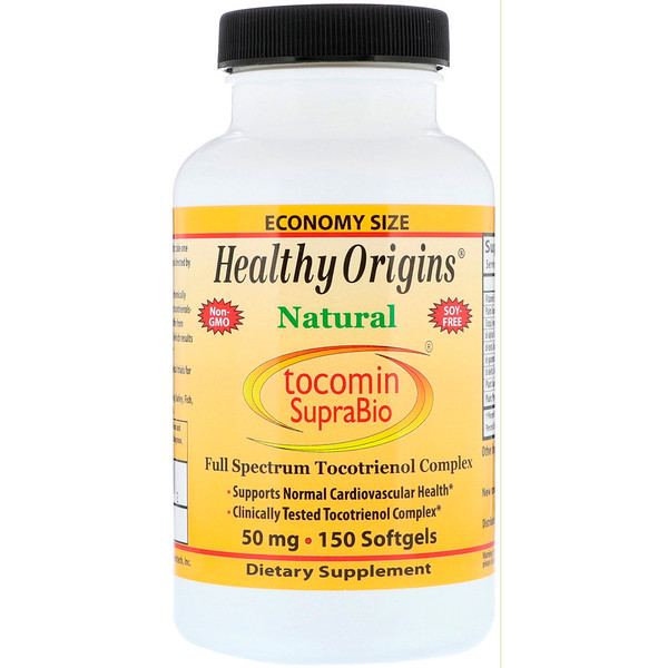 Healthy Origins, Tocomin SupraBio, 50 mg, 150 Softgels (Discontinued Item)