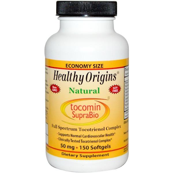 Healthy Origins, Tocomin SupraBio, 50 mg, 150 Softgels