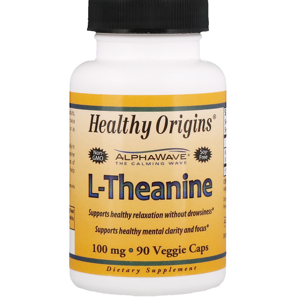 Healthy Origins, L-Theanine, 100 mg, 90 Veggie Caps (Discontinued Item)