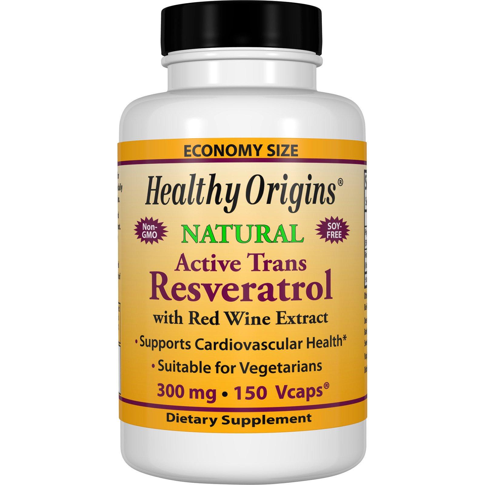 Healthy Origins, Активный транс-ресвератрол, 300 мг, 150 вегетарианских капсул