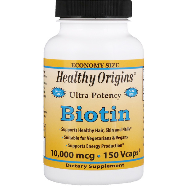 Healthy Origins, Biotin, Ultra Potency, 10,000 mcg, 150 Vcaps