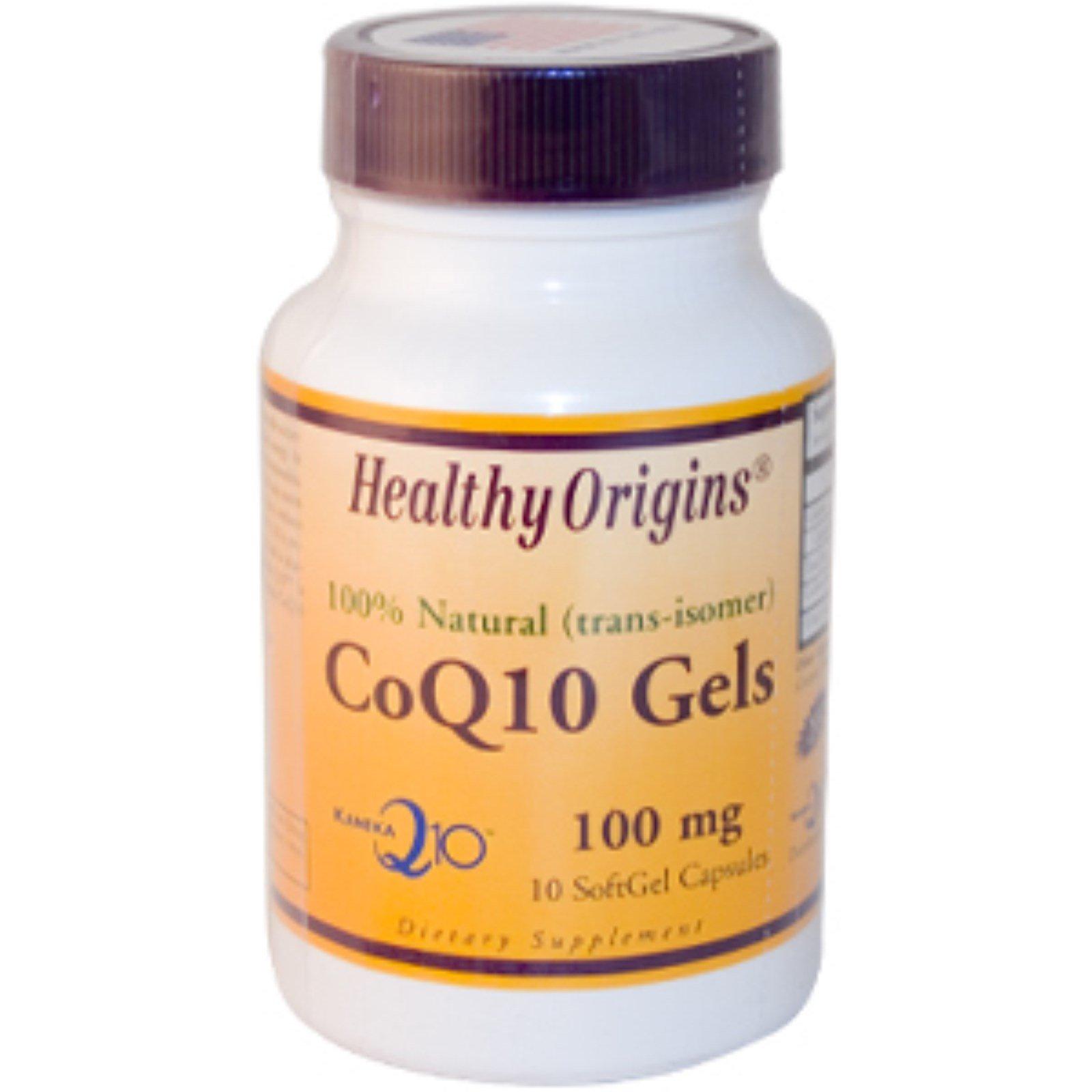 Healthy Origins, Гели CoQ10, 100 мг, 10 желатиновых капсул