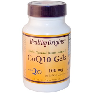 Healthy Origins, CoQ10 Gels (Kaneka Q10), 100 mg, 10 Softgel Capsules