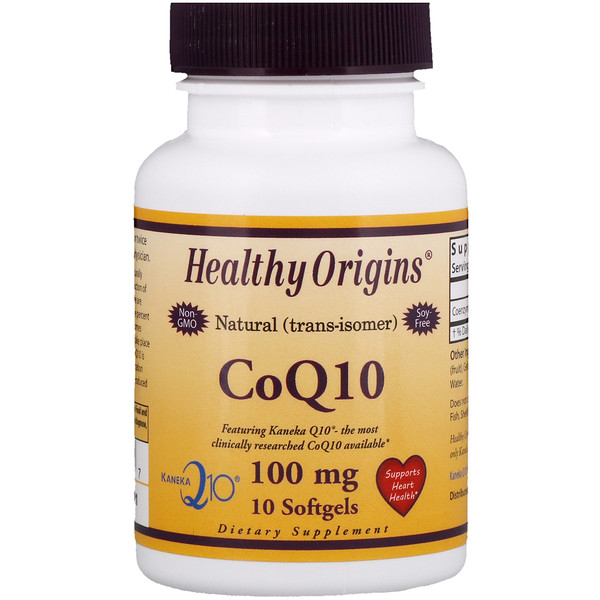 Healthy Origins, CoQ10 Kaneka Q10, 100 mg, 10 Softgels (Discontinued Item)