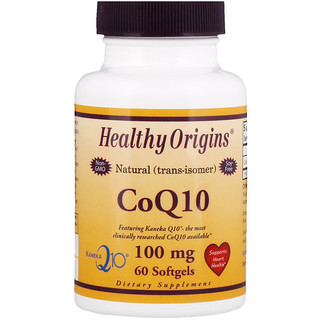 Healthy Origins, CoQ10, Kaneka Q10, 100 mg, 60 Softgels