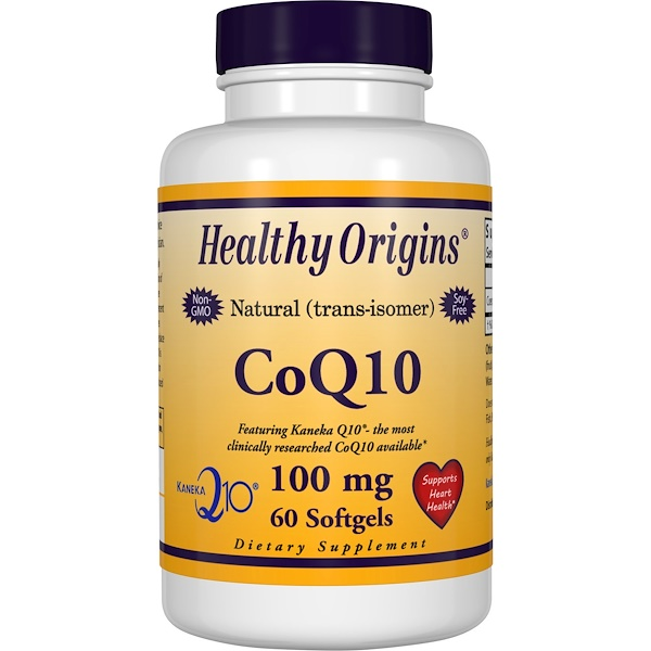 Healthy Origins, CoQ10 ( Kaneka Q10 ), 100 mg, 60 Softgels
