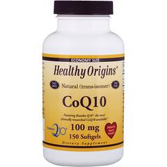 Healthy Origins, CoQ10, (Kaneka Q10), 100 mg, 150 Cápsulas de Softgel