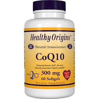 Healthy Origins, CoQ10, (Kaneka Q10), 300 mg, 60 소프트젤