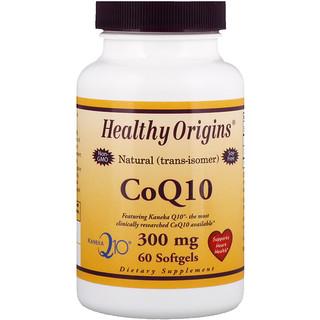 Healthy Origins, CoQ10, Kaneka Q10, 300 mg, 60 Softgels