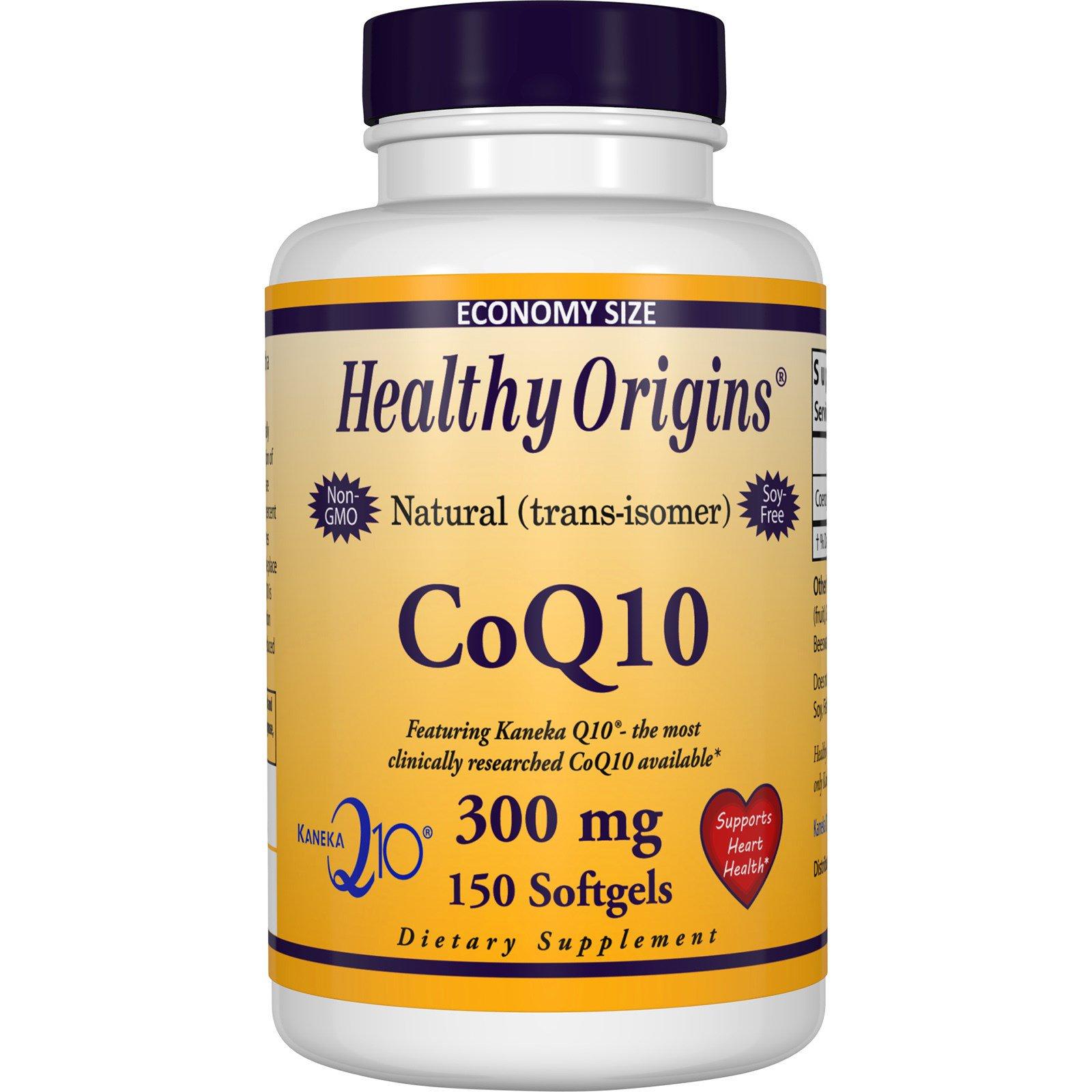 Healthy Origins, Гель коэнзим Q10 (Kaneka Q10), 300 mg, 150 гелевых капсул