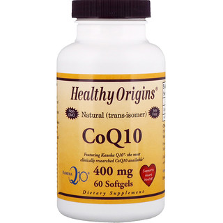 Healthy Origins, Коэнзим Q10, Kaneka Q10, 400 мг, 60 мягких таблеток