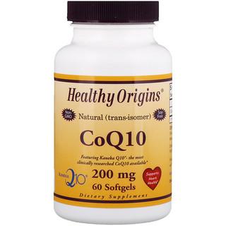 Healthy Origins, CoQ10, Kaneka Q10, 200 mg, 60 Softgels