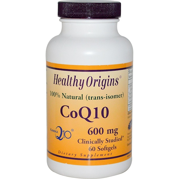 Healthy Origins, CoQ10, Kaneka Q10, 600 mg, 60 Softgels