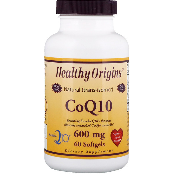 Healthy Origins, CoQ10, (Kaneka Q10), 600 mg, 60 cápsulas suaves (Discontinued Item)