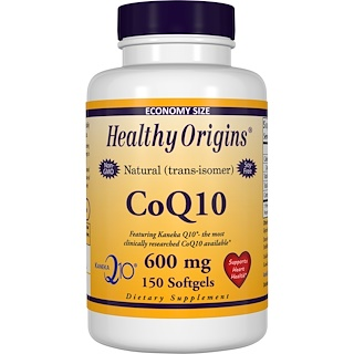 Healthy Origins, CoQ10, Kaneka Q10, 600 mg, 150 Softgels