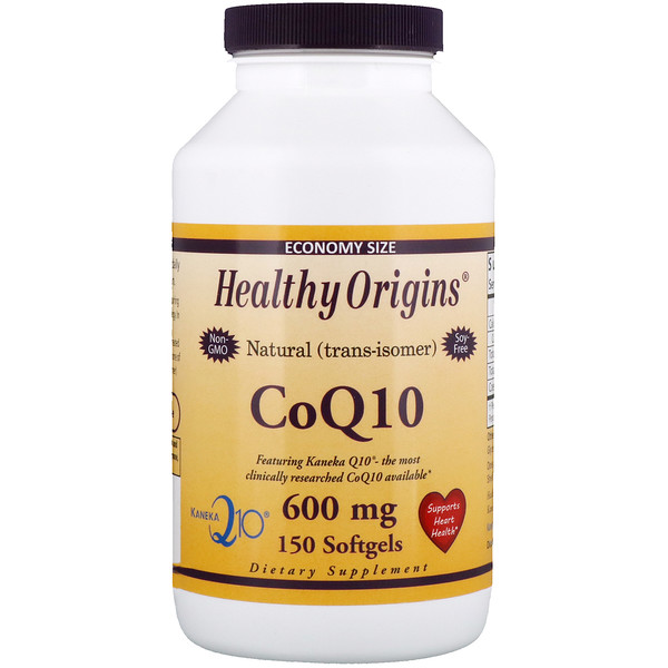 Healthy Origins, CoQ10, Kaneka Q10, 600 mg, 150 Softgels (Discontinued Item)