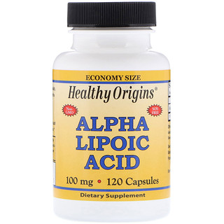 Healthy Origins, Alpha Lipoic Acid, 100 mg, 120 Capsules