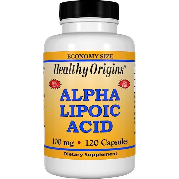 Healthy Origins, Alpha Lipoic Acid, 100 mg, 120 Capsules