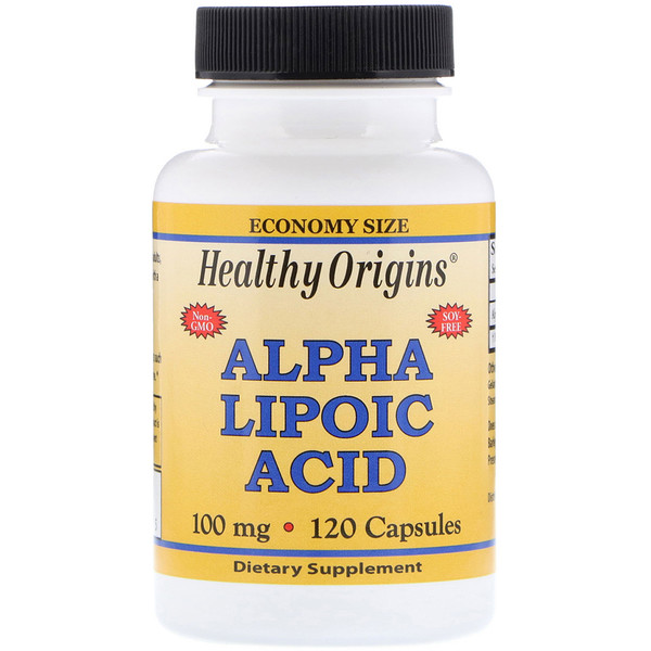 Healthy Origins, Ácido Alfa Lipóico, 100 mg, 120 Cápsulas (Discontinued Item)