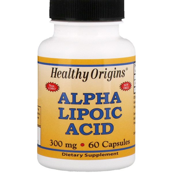Healthy Origins, Ácido alfa lipoico 300 mg, 60 cápsulas (Discontinued Item)