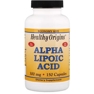 Healthy Origins, Ácido Alfa Lipoico, 300 mg, 150 Cápsulas