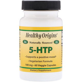 Healthy Origins, 5-HTP、100 mg、60 ベジキャップ