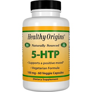 Healthy Origins, 5-HTP, 100 mg, 60 Veggie Caps