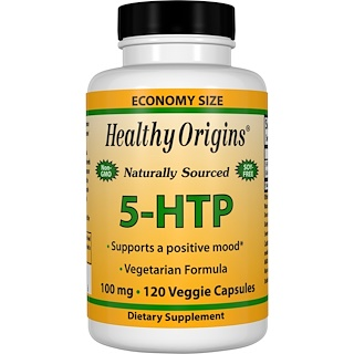 Healthy Origins, 5-HTP, 100 mg, 120 Veggie Caps