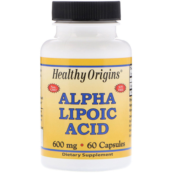 Healthy Origins, Alpha Lipoic Acid, 600 mg, 60 Capsules (Discontinued Item)